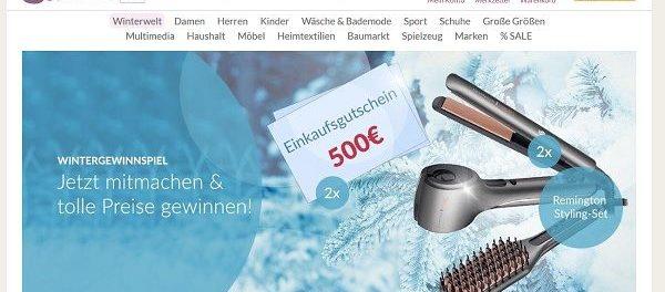 Schwab Versand Gewinnspiele 500 Euro Shopping Gutscheine