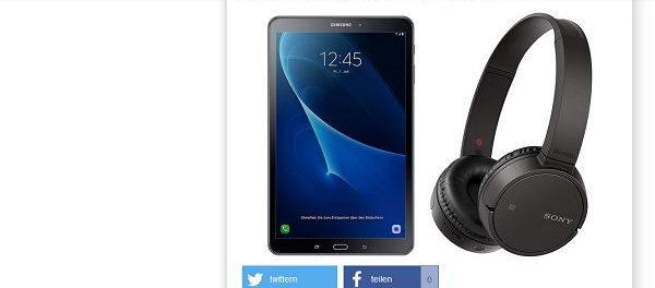 Gewinnspiel Samsung Tablet