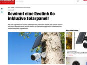 Smart Wohnen Gewinnspiel Reolink Go Überwachungskamera Solarpanel
