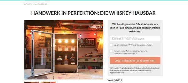 TV Movie Gewinnspiel Whiskey Hausbar