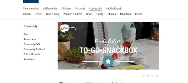 Tchibo Gewinnspiel 50 To-Go-Snackbox Produkttester