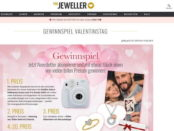 Valentinstag Gewinnspiel The Jeweler Sofortbildkamera und Schmuck