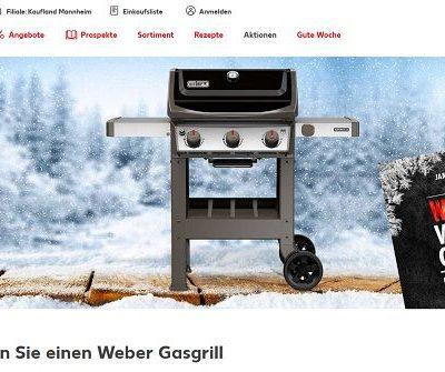 Weber Gasgrill Gewinnspiel Kaufland Wintergrillen 2019