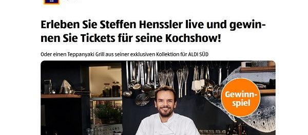 Aldi Gewinnspiel Steffen Henssler Show Tickets Und Sachpreise