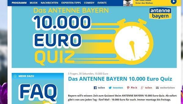 antenne bayern gewinnspiel euro quiz 2019. Black Bedroom Furniture Sets. Home Design Ideas