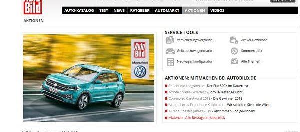 Auto Bild Gewinnspiel VW T-Cross gewinnen