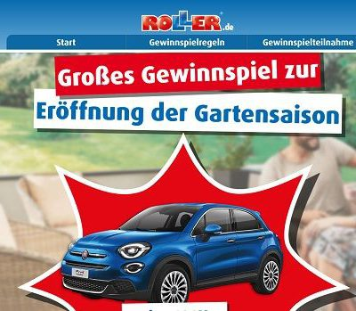 Auto-Gewinnspiel Roller Möbelmärkte 3 Fiat 500