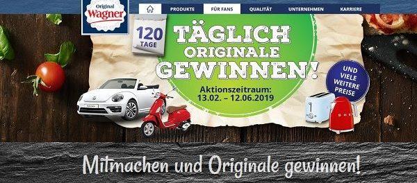 Auto Gewinnspiel Wagner Pizza VW Beetle Cabrio