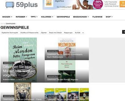 Bücher Gewinnspiel 59Plus mehrere Verlosungen online