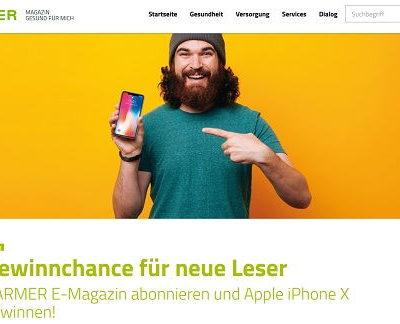 Barmer Gewinnspiel Apple iPhone X