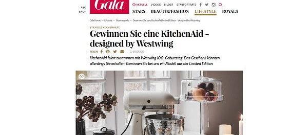 Gala Gewinnspiel KitchenAid Küchenmaschine Westwing Design