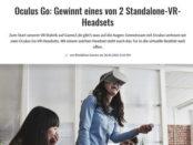 Gamez Gewinnspiel Oculus Go VR-Headsets gewinnen