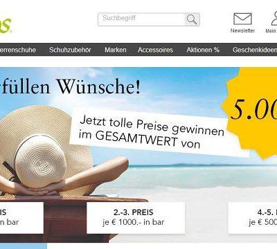 Geld Gewinnspiel Vamos Schuhe 5.000 Euro gewinnen