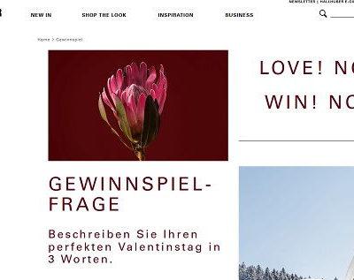 Hallhuber Valentinstag Gewinnspiel Romantik Wochenendaufenthalt