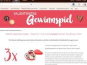 Hussel Valentinstag Gewinnspiel Schokoladenherzen