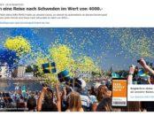 IKEA Family Gewinnspiel monatlich Schweden Reise gewinnen