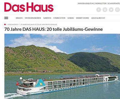 Jubiläums-Gewinnspiel Zeitschrift Das Haus Reise und Sachpreise