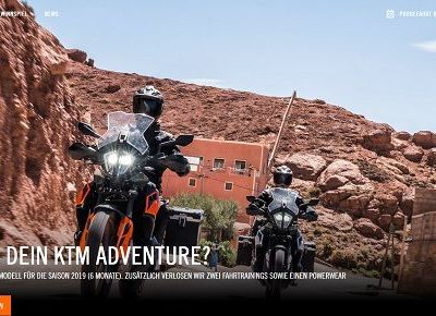 KTM Motorrad Gewinnspiel KTM 790 Adventure