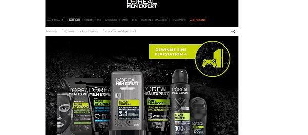 L´Oreal Men Expert Gewinnspiel Playstation 4 Spielkonsolen