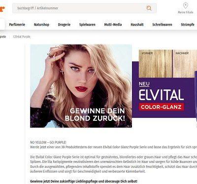 Müller Gewinnspiel Elvital Haarpflege Sets gewinnen