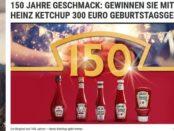 MensHealth Gewinnspiel Heinz Ketchup 300 Euro Bargeld