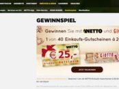 Netto und Giotto Gewinnspiel Einkaufs-Gutscheine gewinnen