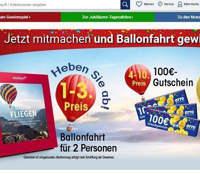 Otto Office Jubiläums Gewinnspiel Gutcheine und Ballonfahrten