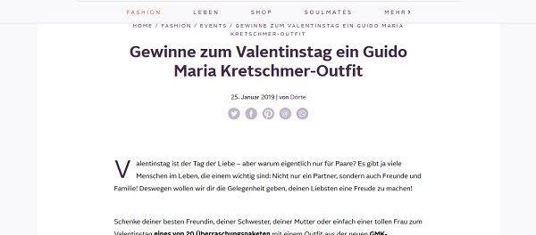 Otto Valentinstag Gewinnspiel Guido Maria Kretschmer Outfits