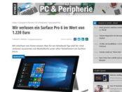 PC Welt Gewinnspiel Surface Pro 6 Notebook