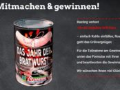 Rasting Gewinnspiel Bratwurst des Jahres Grill-Fässer