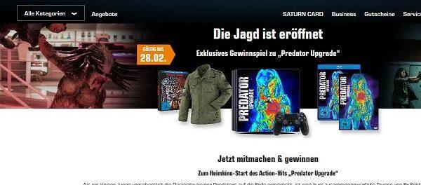 Saturn Gewinnspiele Predator Upgrade Playstation 4 Spielkonsole