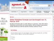 aponet Gewinnspiel 500 Euro und Zusatzchance 2.500 Euro Bargeld