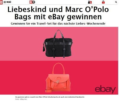 ebay und Bild.de Gewinnspiel Liebeskind Handtaschen