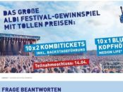 Aldi Nord Gewinnspiel Festival Tickets und Bluetooth Kopfhörer