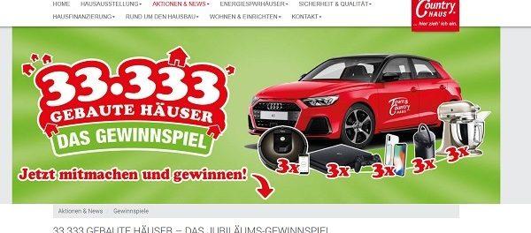 Auto Gewinnspiel Audi A1 Town&Country Haus