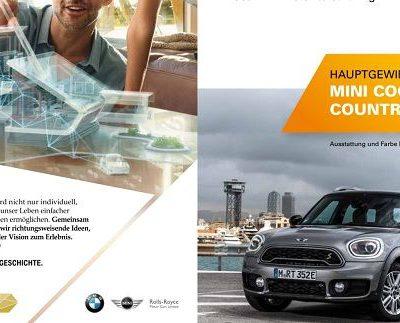 Auto-Gewinnspiel Bayern Mobil Mini Cooper