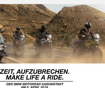BMW Saisonstart 2019 Motorrad Gewinnspiel