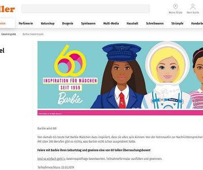 Barbie Gewinnspiel Müller Drogerie