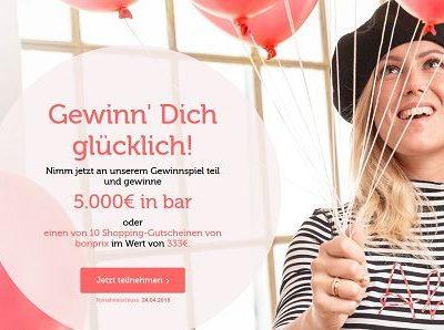 Bonprix Gewinnspiel 5.000 Euro und Shoppinggutscheine