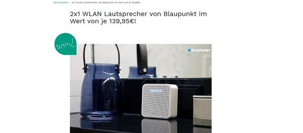 Couch Magazin Gewinnspiele Blaupunkt WLAN Lautsprecher Sprachassistent