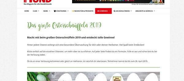 Der Hund Oster-Gewinnspiel 2019