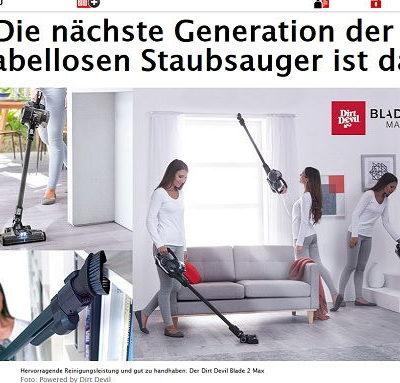 Dirt Devil Akkustaubsauger Gewinnspiel Bild.de