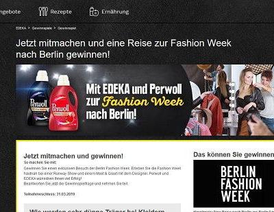 Edeka Gewinnspiel Berlin Reise Fashion Week 2019
