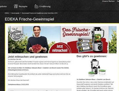Edeka Gewinnspiel Bosch Vakuum Mixer und Gutscheine