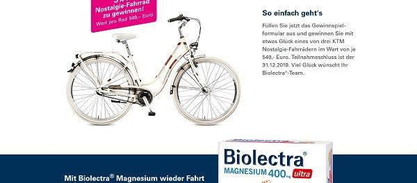 Fahrrad Gewinnspiel Biolectra 3 Nostalgie Bikes