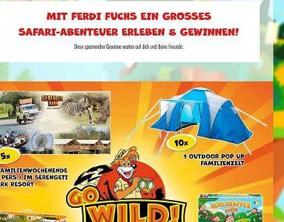 Ferdi Fuchs Gewinnspiel 5 Serengeti Safaripark Familienwochenenden