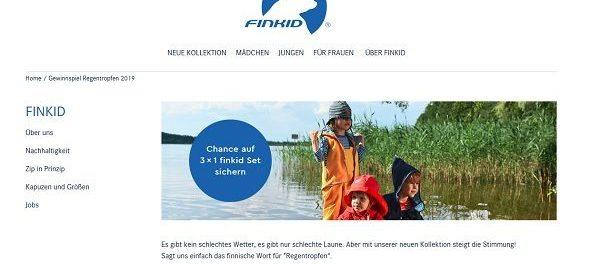 Finkid Gewinnspiel 3 mal 300 Euro Kinderkleidung