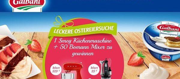 Galbani Ostereiersuche Gewinnspiel SMEG Küchenmaschine