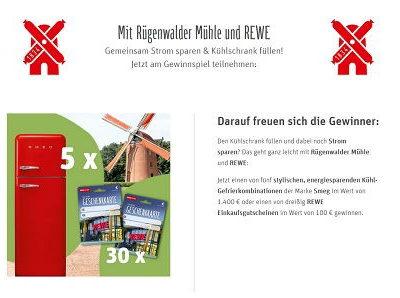 Gewinnspiel REWE Rügenwalder Mühle SMEG Kühlschränke