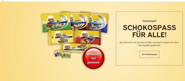 Gewinnspiel Sun Rice 5 Schokoladen Naschpakete